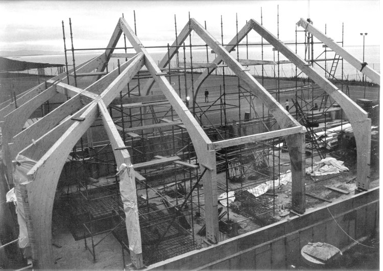 View of Mallaig Swimming Pool while under construction